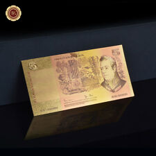 WR 1966 Australian $5 Dollar Note 24K Gold Foil  Banknote Money Collection