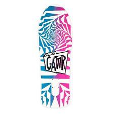 Vision Gator 2 Reissue Skateboard Deck, White/Pink, 10.25 x 29.75-Inch