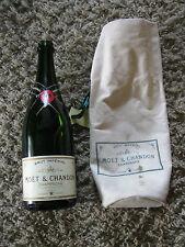 Vintage empty Moet & Chandon Champagne Brut Imperial bottle and bag!!