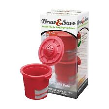 Brew & Save Reusable K-Cup Filter for Keurig Single Cup Coffee Makers - 2pk