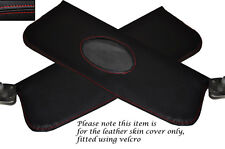 RED STITCHING FITS JAGUAR MK2 2X SUN VISORS LEATHER SKIN COVERS ONLY