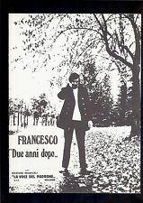 spartito partituras sheet music FRANCESCO GUCCINI  Due anni dopo    1977