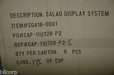 "Retail Salad Display System 20"" X 5 1/4"", Case Of 6. Lot of 10 Cases - 60 units"