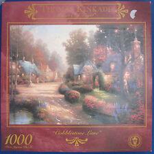 "jigsaw puzzle 1000 pc Thomas Kinkade Cobblestone Lane Ceaco 3310-9  27""x20"""