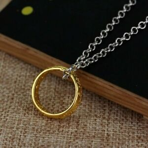 The Lord of the Rings The One Ring Necklace Gold Pendant Engraved Cosplay/Gift