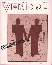 ▬►MARKETING PUBLICITÉ  -- VENDRE N° 244 (JUIN 1950) --  COVER  ANDRÉ HEYSCH