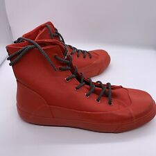 Hunter for Target Dipped Canvas High Top Lace-up Rain Boots Sneakers Red M11 W13