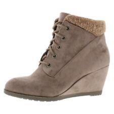 Steve Madden Womens Courrtne Taupe Wedge Booties Shoes 10 Medium (B,M) BHFO 7552