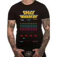 Official Space Invaders Taito Arcade Game 70s Retro Black Unisex T-Shirt Lice...