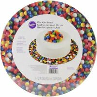 """Wilton Gumball Cake Plate and Boards Colorful 12"""" Pastry Serveware - 3 Pack"""