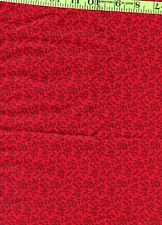VIP Red Black Traditional Calico 100% Cotton Quilt Quilting Fabric Remnant