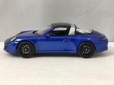 Schuco Porsche 911 (991) Targa 4 GTS Blue Diecast Model Car 1/43