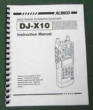 Alinco DJ-X10 Instruction Manual: Comb bound & Protective Plastic covers