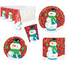 Christmas Party Snowman Swirl Napkins Plates Tablecover Cups Tableware Listing