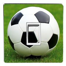 FOOTBALL SOCCER BALL light switch cover decal / sticker - HD quality .