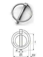 10 x Klappsplinte Klappstecker Splinte Klappsplint Stahl verzinkt 11 mm