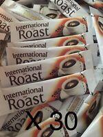 30 Single Serve International Roast Coffee Individual Sachets 1.7g each Stick