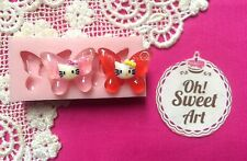 Hello Kitty Butterflies I Silicone Mold Food Safe Cake Decoration Cupcake (FDA)