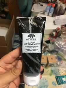 ORIGINS Clear Improvement Active Charcoal Mask to Clear Pores 3.4 oz NEW FREE SH