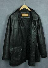 TIMBERLAND WEATHERGEAR Men Genuine Waterproof Cowhide Leather Long Jacket [SZ XL