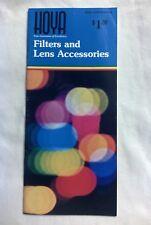 1970's Hoya Filters & Lens Accessories Brochure