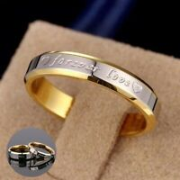 Ring Steel Love Band Women Forever Titanium Rings Wedding Men Promise Couple