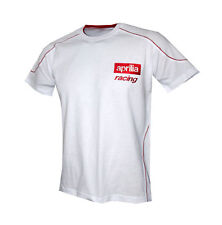 Aprilia Racing white t-shirt ( size XL ) - embroidered logos / RSV4 SR 50 RS 125