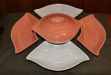 Vintage  6 Piece Lazy Susan Set  by  California Pottery       L 34