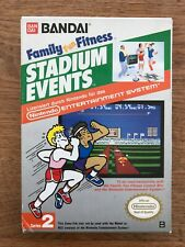 "Nintendo Entertainment System NES ""Family Fun Fitness STADIUM EVENTS"" !! RARE !!"