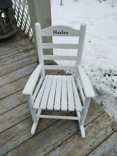 Ll Bean White Child'S Rocking Chair (1)