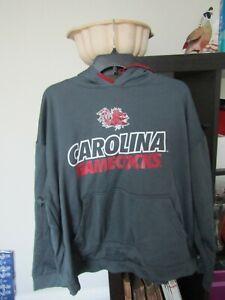 Black HTR//Garnet Medium J America NCAA South Carolina Fighting Gamecocks Mens Single Dye Arched School Name Twill Hoodie