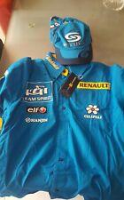 Camisa y gorra del equipo Renault F1, escuderia team Formula 1, Fernando Alonso