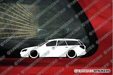 2x LOW Subaru Legacy (BP, 2003-2009) Touring wagon lowered car outline sticker