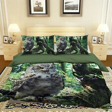 3D Owl N81 Animal Bed Pillowcases Quilt Duvet Cover Queen King Amy