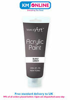 120ml Acrylic Paint Tube Artist Vibrant Assorted Colours Art and Craft, Artist