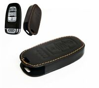 GENUINE LEATHER CASE AUDI KEY FOB COVER TRIM A3 A4 A5 S3 S4 S5 TSI QUATTRO RS