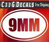 9mm Vinyl Decal Sticker Car Window Wall Bumper Gun Ammo M16 AR-15 Assault Rifle