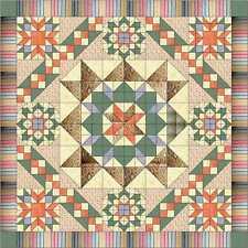 Quilt Kit/Hexagon Star Chain/Pre-cut Fabric Ready 2 Sew, Scandinavian Hues*****