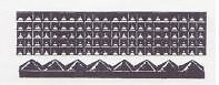 Ford Model A Running Board Rubber Mat / Matting SET Pyramid Design 1930-1931
