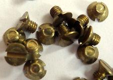 25 piezas de latón MS avellanados m3x4 din913