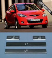 MAZDA 2 Stainless Steel Sill Protectors / Kick Plates (2007 - 2014)