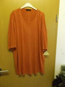Shirt aus Viskosebouclejersey, in Fb. rost-orange  Gr. 50