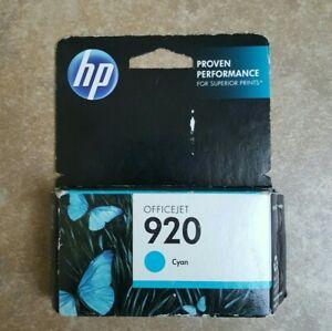 HP 920 Cyan Ink Cartridge Expired 8/2016 NEW SEALED SMOKE FREE