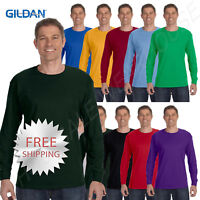 Gildan Mens T-Shirt Long Sleeve Heavy Cotton 5.3 oz  S-XL R-G540 5400