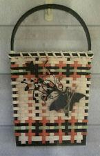 Basket Weaving Pattern Halloween Door Basket by Debbie Hurd