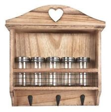 Wall Hanging Kitchen Spice Jar Rack with Hooks by Heart of The Home