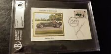 BOBBY RAHAL (Race car driver) Autograph 1985 FDC Century of Motoring silk cachet
