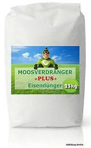 Eisendünger Moosverdränger 25 kg Rasen Rasendünger Moosvernichter