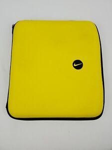 Vintage Nike Meade 3 Ring Zip Binder Yellow