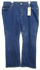 New Levis Womens Med Blue Classic Boot Cut Stretch Denim Jeans Plus 22W M